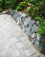 Large Rock Retaining Wall